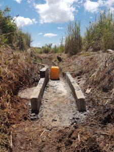 Completed work to make water flow in Banda Makawa